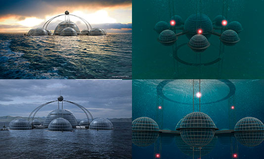 Prior to the (inevitable) zombie apocalypse, or indeed any apocalypse, Sub-Biosphere  2 can be submerged and used as a research base, hotel or a hub for ...